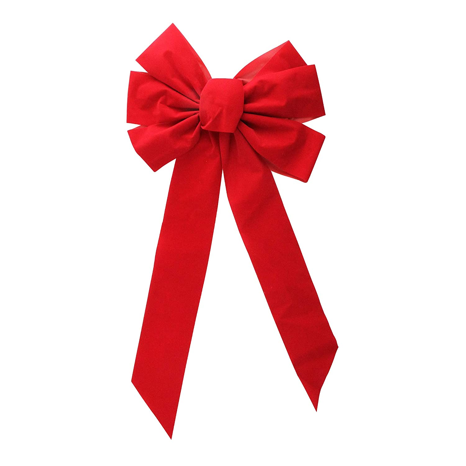 12 x 26 Large Red Indoor/Outdoor Velveteen Magnetic Christmas Holiday Bow CC Christmas Decor