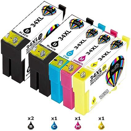 Pictech Cartuchos de tinta de repuesto para Epson 34 34XL ...