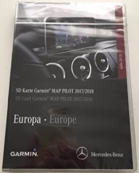Tarjeta SD GPS Mercedes (Star1) Garmin Map Pilot Europe 2017/2018 V9 a2189061903: Amazon.es: Electrónica