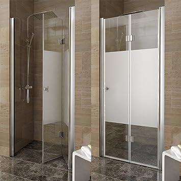 Mampara de ducha mampara de separación plegables mampara de ducha cabina de ducha 100 derecha parcialmente esmerilado: Amazon.es: Bricolaje y herramientas