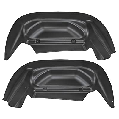 Husky Liners Fits 2014-18 Chevrolet Silveado 1500, 2020 Chevrolet Silverado 1500 LD, 2015-19 Chevrolet Silverado 2500/3500 - SINGLE REAR WHEELS Rear Wheel Well Guards: Automotive