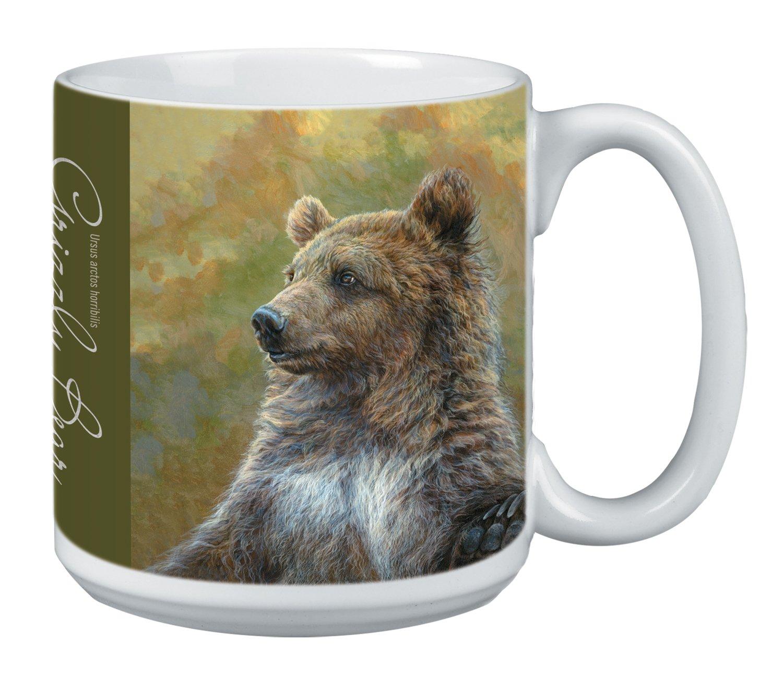 Grizzly Bear Themed Wildlife Art Tree-Free Greetings Extra Large 20-Ounce Ceramic Coffee Mug XM29919