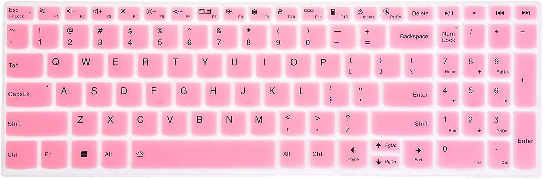 Leze - Keyboard Cover Skin Compatible with Lenovo ideaPad Slim 7 15, ideaPad 5 15, ideaPad Flex 5 15IIL05 Laptop - Pink