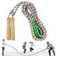 XPuing Kleurrijk springtouw, 5 meter, 7 meter, 10 meter, touwspringtouw, springtouw springen, houten handvat voor…