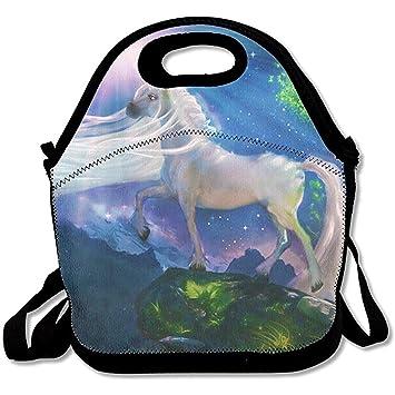 4c84c82c0963 Amazon.com - Starboston Lunch Tote - Unicorn Horse Waterproof ...