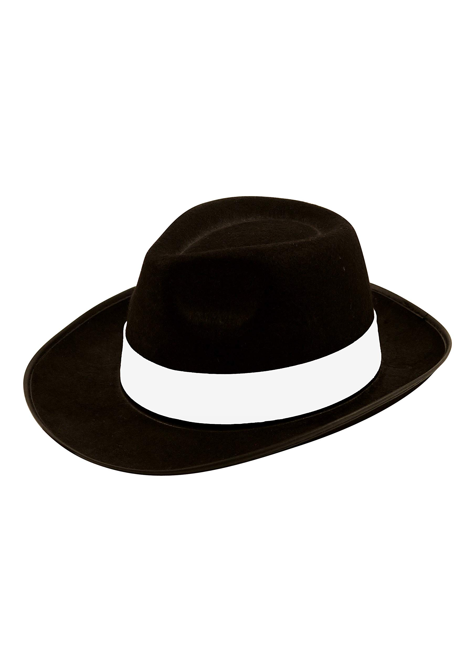 MEN WHITE //BLACK GANGSTER MAFIA HAT FELT TRILBY FEDORA AL CAPONE FANCY DRESS HAT