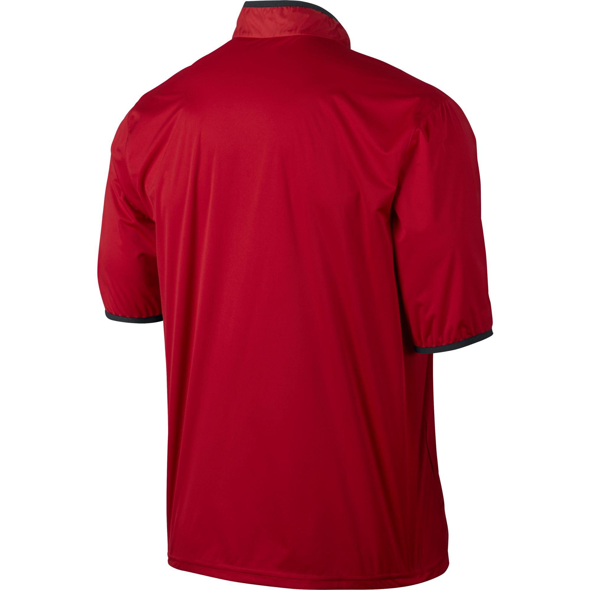NIKE CLOSEOUT Shield Men's Short Sleeve Golf Jacket (University Red, Medium)
