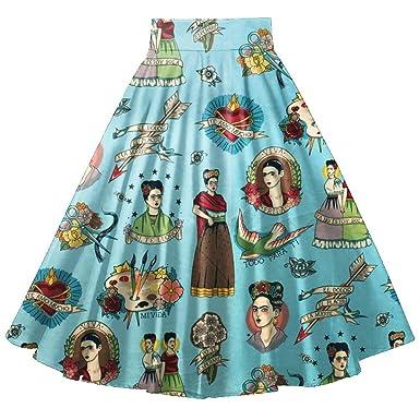 Primavera Verano Años 50 Retro Vintage Falda Único De Mujer ...