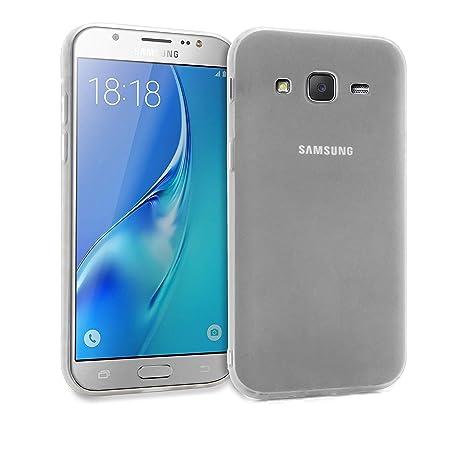 MyGadget Funda Slim para Samsung Galaxy J5 [2016] en Silicona TPU - Anti Rasguños - Carcasa Protectora Ultra Delgada [ 1,2 mm ] cómoda - Transparente