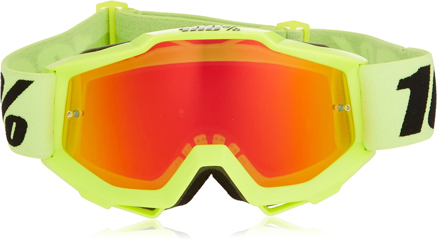 100 50310-004-02 unisex-adult Goggle Yellow,Mirror Red,One Size ACCURI JUNIOR AC Youth FLO Mirror Lens Red