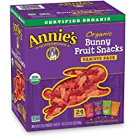 24-Pack Annies Organic Bunny Fruit Snacks Variety Pack 0.8oz