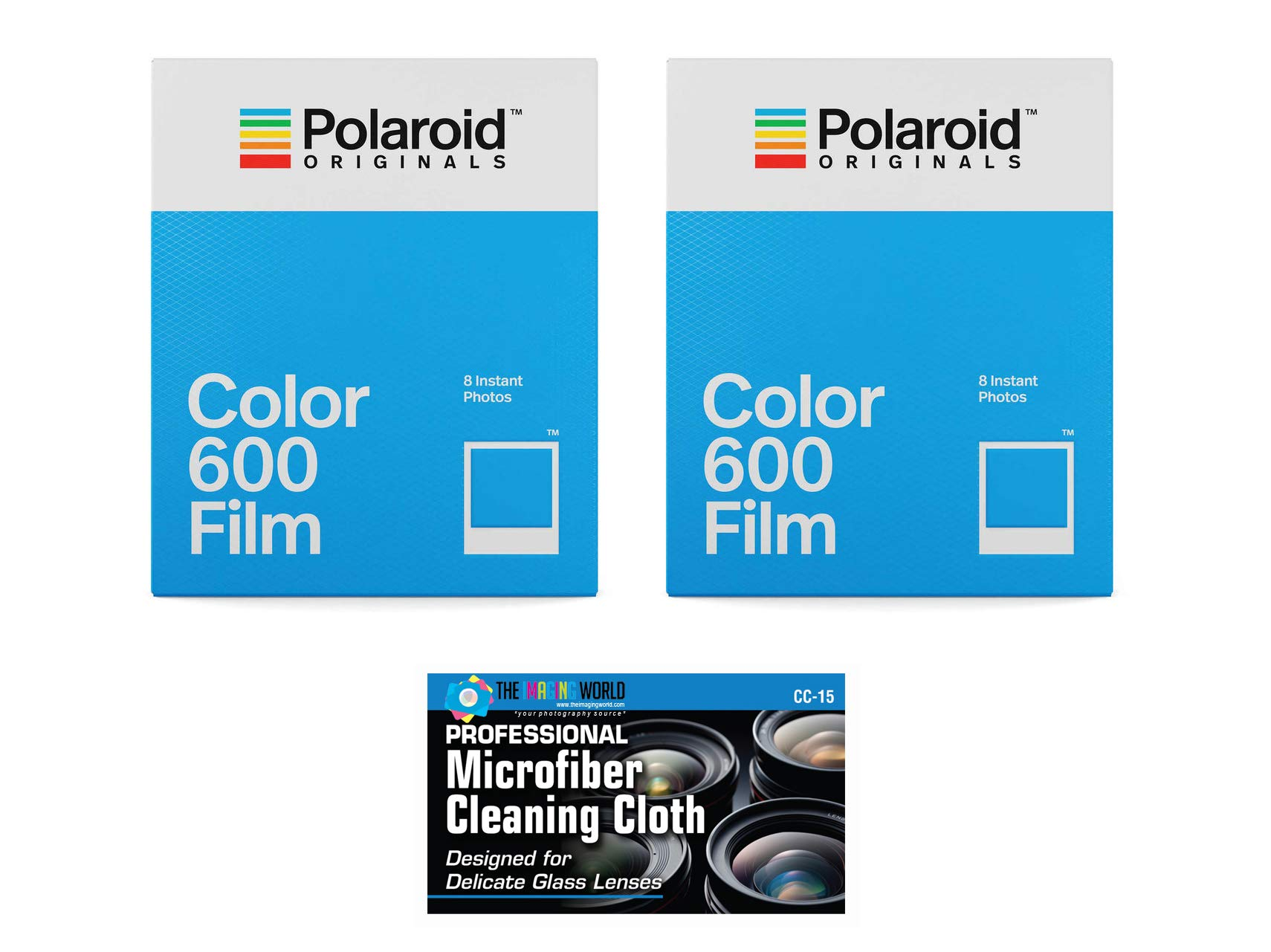 Impossible/Polaroid Instant Color Film for Polaroid 600 and Polaroid Originals OneStep Cameras - 2 Pack by The Imaging World