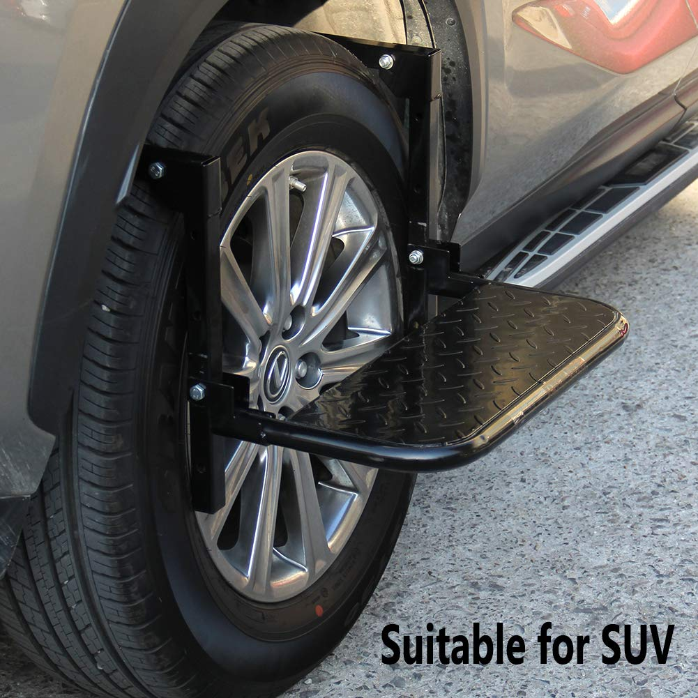 Auto Procarry Tire Step, Black Adjustable Truck Tire Step Fits 13.5-inch by Auto Procarry (Image #6)