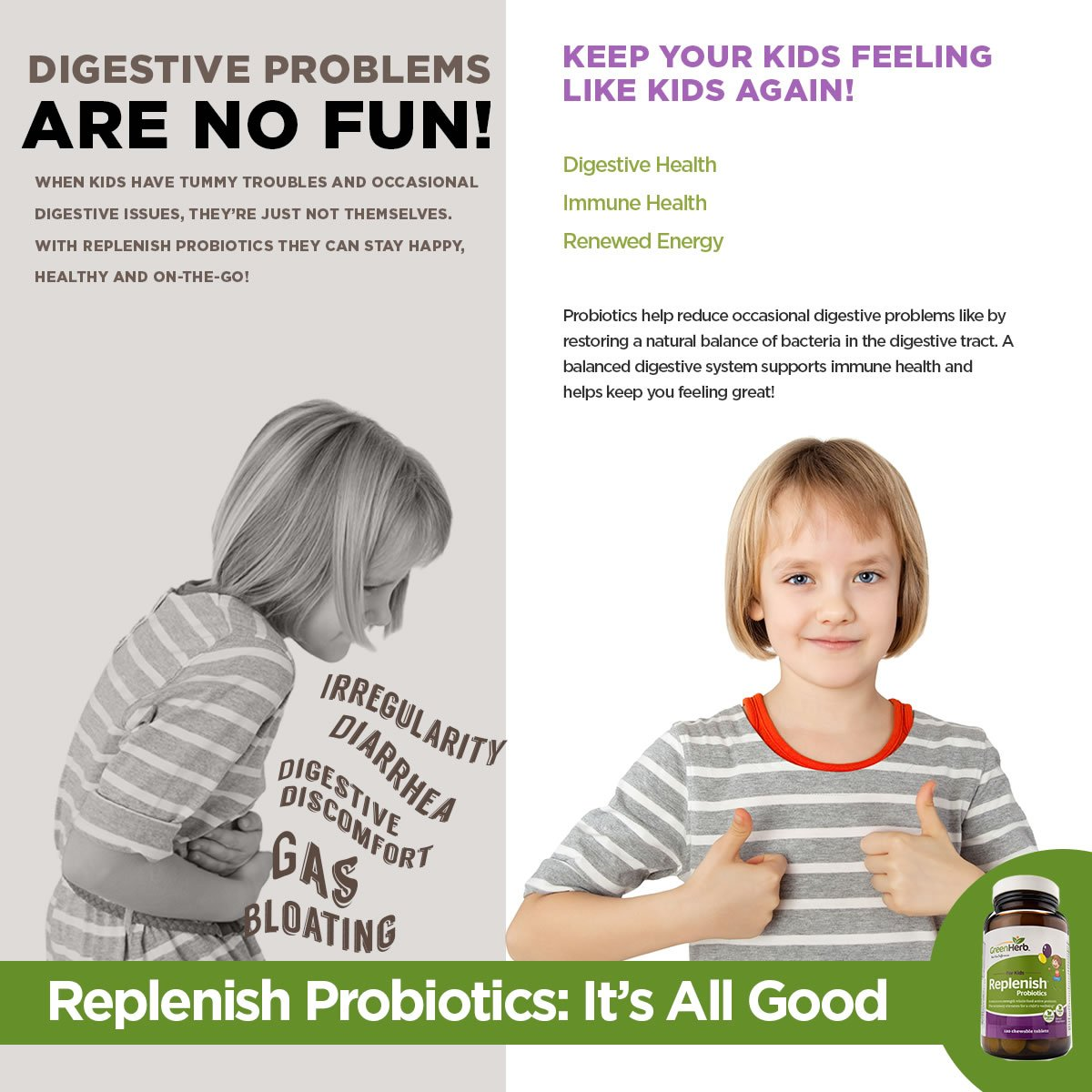 Digestive problems in a child
