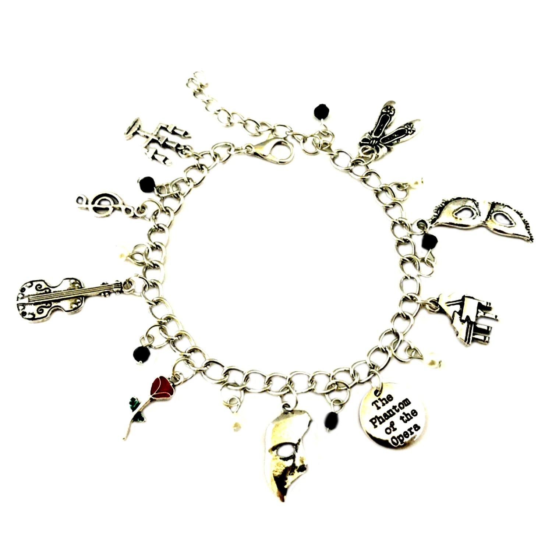 Superheroes Brand Phantom of the Opera Broadway Musical Charm Bracelet Jewelry Series w/Gift Box