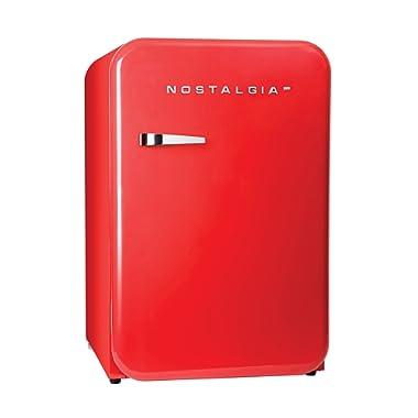 Nostalgia RFF38SDRD Retro Series 3.8-Cubic Foot Refrigerator with Freezer