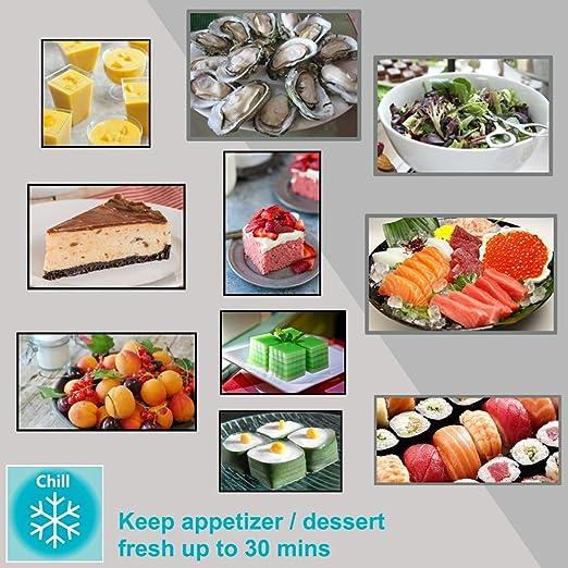 Fuente de energía descongelación bandeja + Chill Platter, la manera más segura para descongelar alimentos congelados sin electricidad, microondas, ...