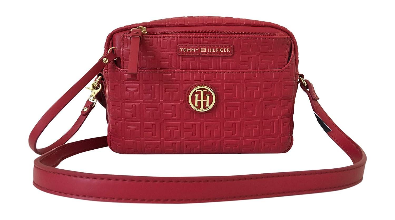 Amazon.com: Tommy Hilfiger Bolso bandolera con logotipo rojo ...