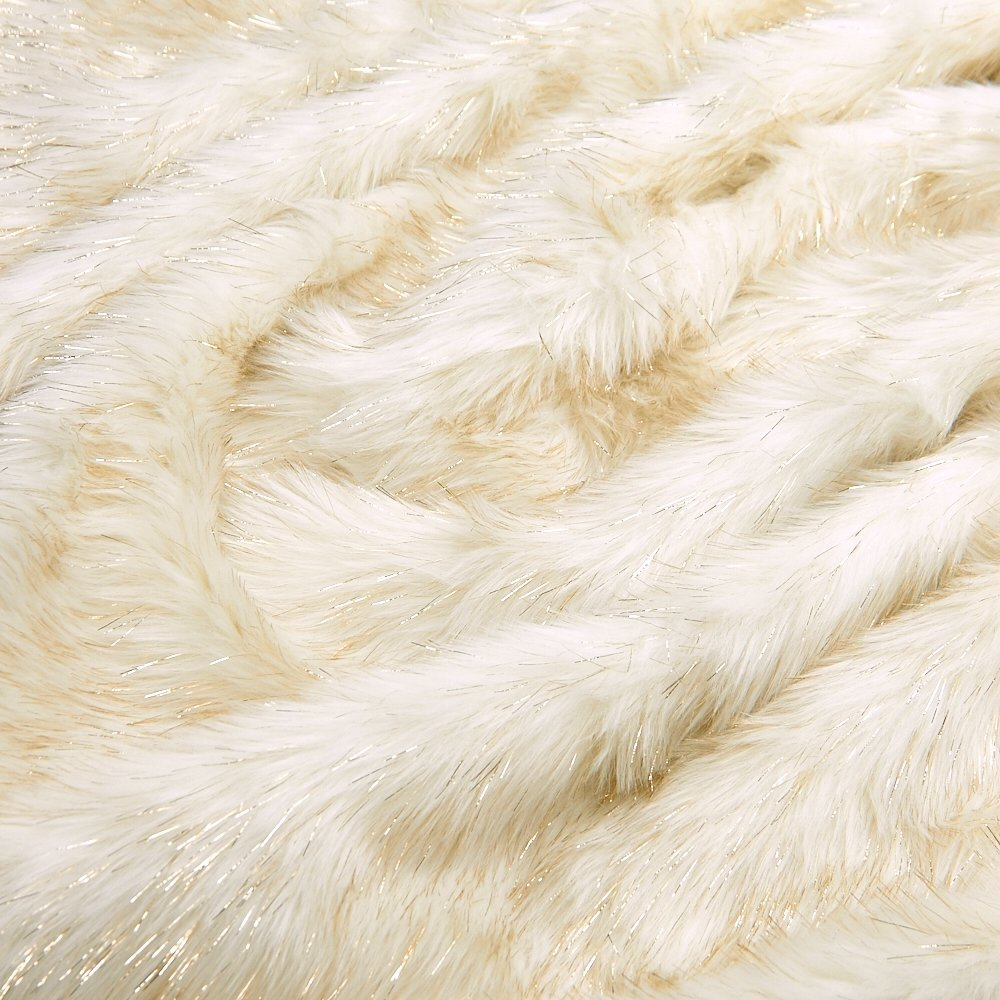 Luxurious Faux Fur Hot Water Bottle Cover, Premium Quality Handcrafted in USA (Glamour Gold) by EUDOR