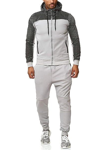 ArizonaShopping Herren Jogginganzug Streetwear Sportanzug Trainingsanzug  Streifen Kapuze  Amazon.de  Bekleidung 2bf94009d4