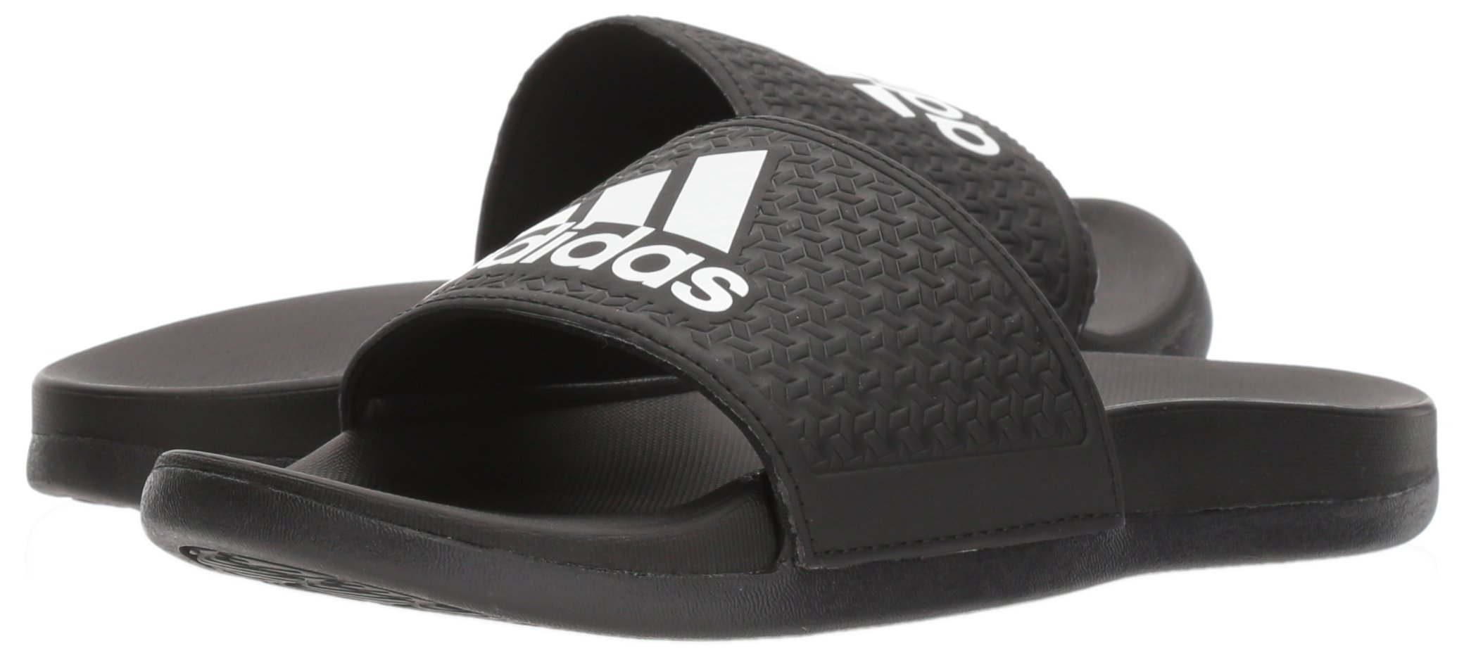 adidas Unisex-Kids Adilette Clf+ K Sandal,core black,White, core black,6 M US Big Kid by adidas (Image #6)