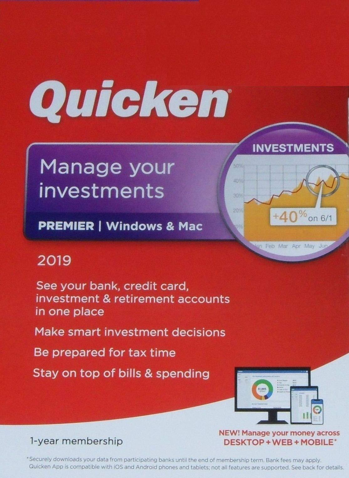 Quicken Premier 2019 1 Year membership by Intuit, Inc.