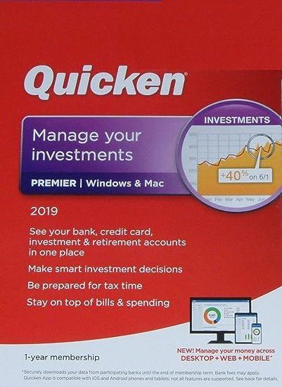 Amazon com: Quicken Premier 2019 1 Year membership