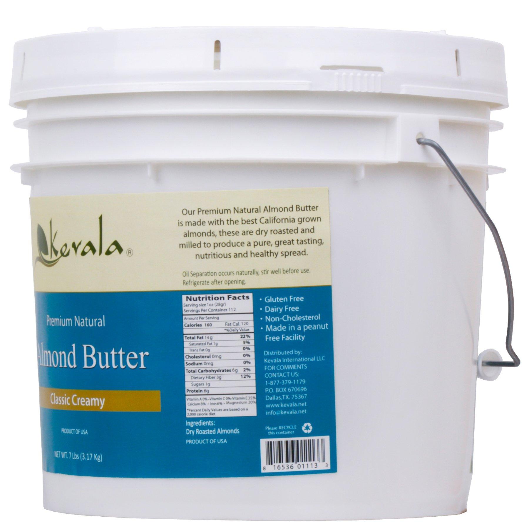 Almond Butter Creamy, Kevala, 7 Lbs Pail by Kevala (Image #4)