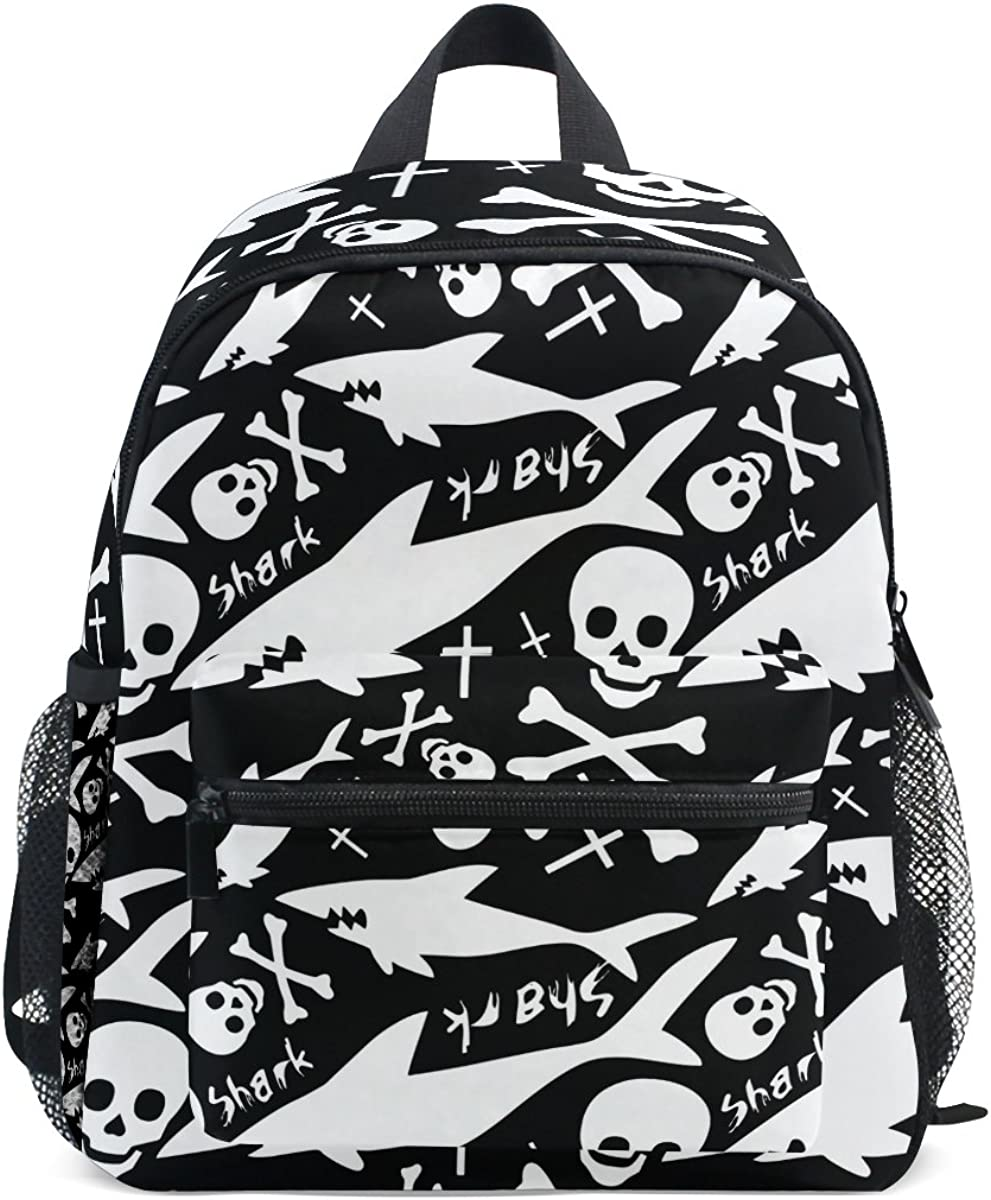 My Daily Kids Backpack Skull And Shark Nursery Bags for Preschool Children