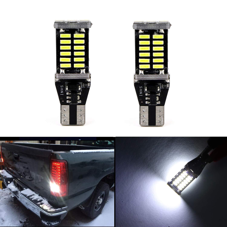 6000K White Clearance Light Door light 921 T15 904 906 912 30-SMD 4014 Chipsets Back Up Reverse LED Bulbs