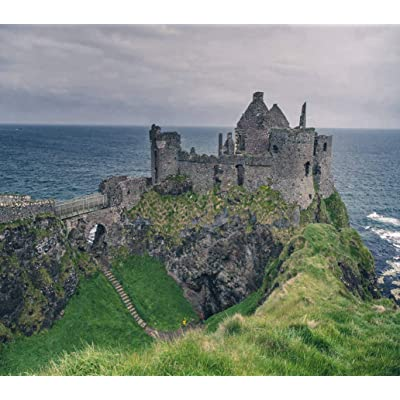 DIY 5D Diamond Painting Kits Dunluce Medieval Castle Sea Coast Ireland Northern Antrim Architecture Full Drill Painting Arts Craft Canvas for Home Wall Decor Full Drill Cross Stitch Giftt 12X16 Inch: Toys & Games