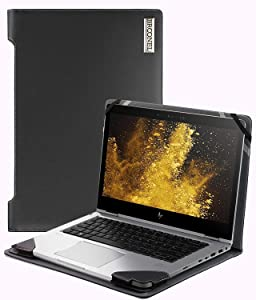 """Broonel - Profile Series - Black Leather Laptop Case Compatible with The HP EliteBook 850 G6 15.6"""" Laptop"""