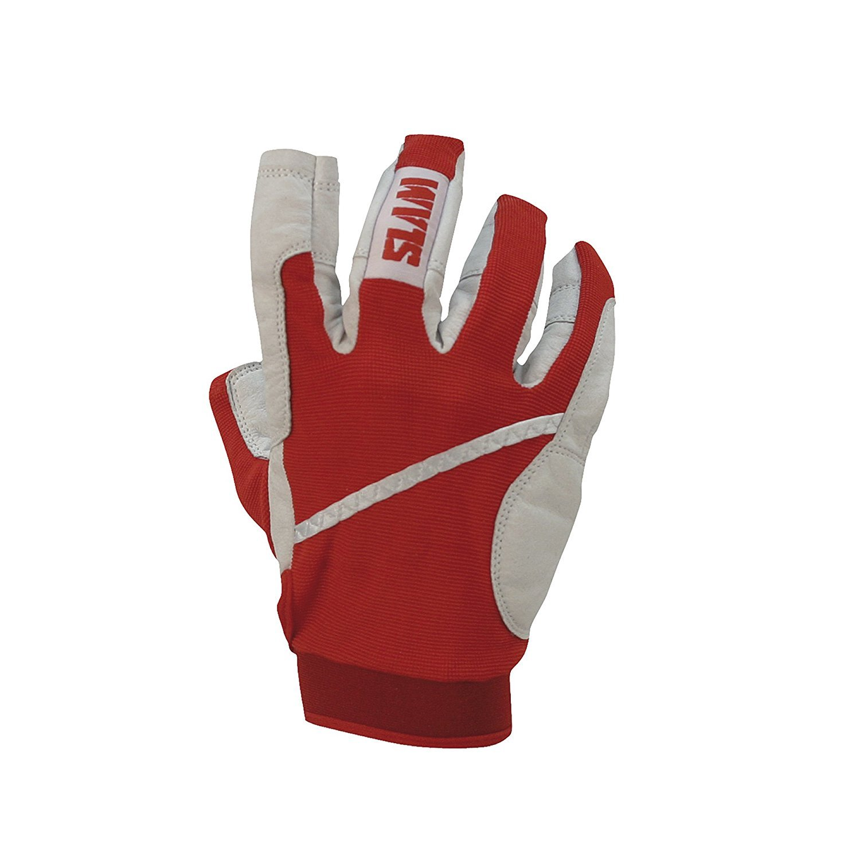Slam Sailing Glove 3 / 4指メンズ65 %ナイロン35 % Poliurethane Palm調節可能なリストバンド B074N7PL61 レッド 2X-Large