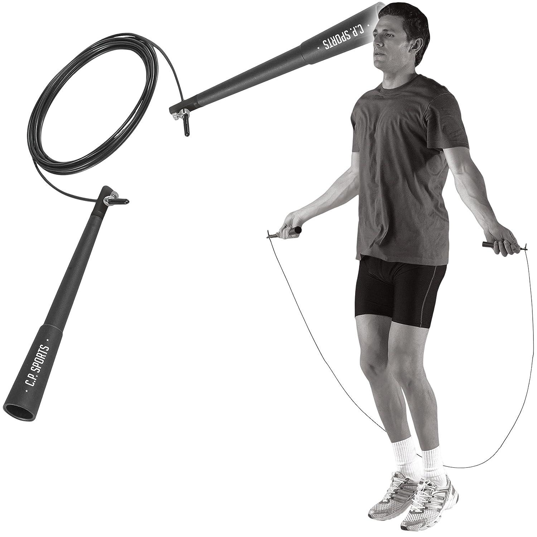 C.P. Sports Crossover Stahl-Springseil Fitnesszubehö r, Silber/Schwarz, One Size CPSP7|#C.P. SPORTS G65