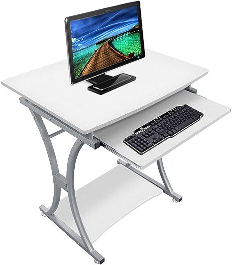 lyndan – Traverse blanco mesa de ordenador escritorio para Hogar y ...
