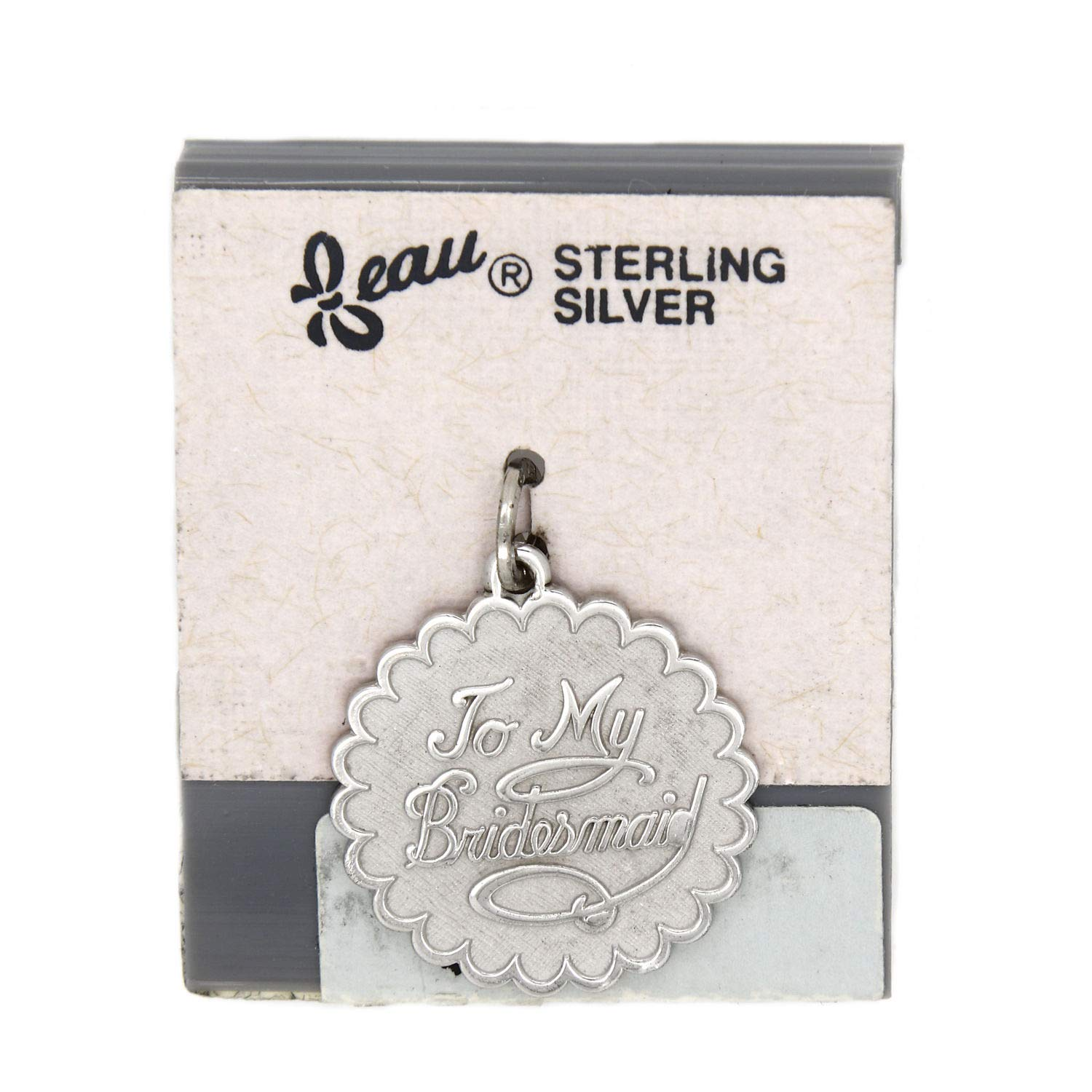 Amazon.com: Vintage Beau BEAUCRAFT Sterling Silver Bridesmaid Charm Jewelry  Making Supply Pendant Bracelet DIY Crafting by Wholesale Charms