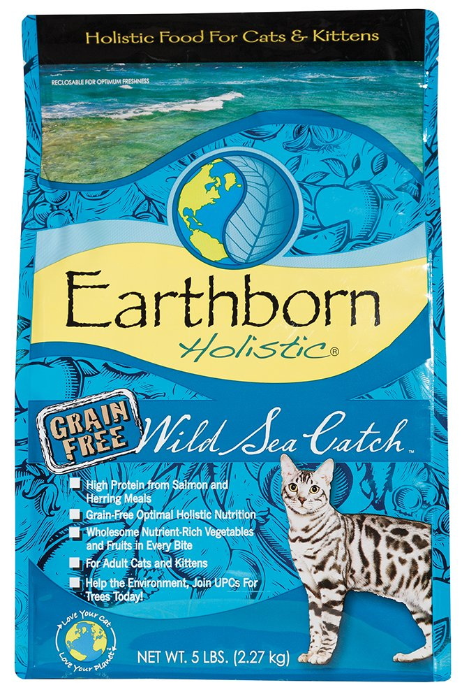 Earthborn Holistic Wild Sea Catch Cat Food 2.27 kg, 2.27 kilograms