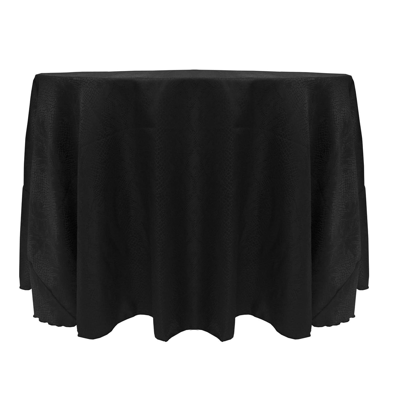 Ultimate Textile Modern Damask Kenya 72-Inch Round Tablecloth Black