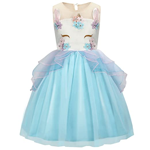 32c719f22 Amazon.com: Acecharming Costume Unicorn Dress, Flower Girls Party Princess  Dress for 2-3 Years Kids: Clothing