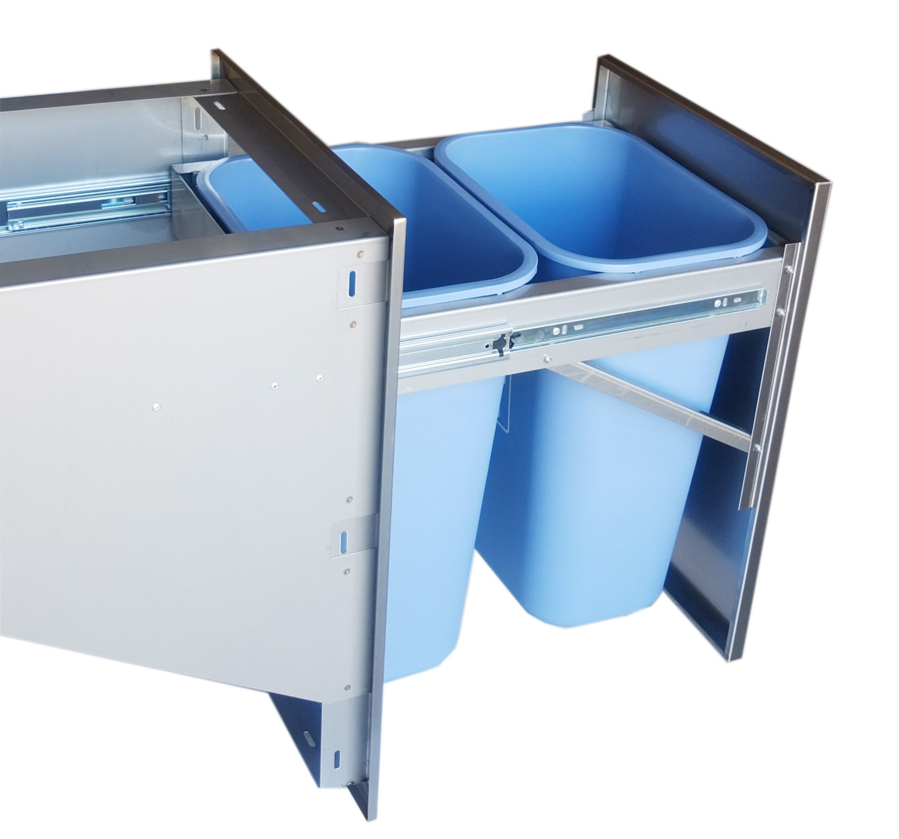 SUNSTONE BA-TRD1724 Beveled Frame Drawer with Two Trash Bins, 17 by 24'' by SUNSTONE (Image #4)