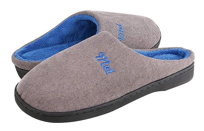 058691d76601 Coser Paradise Men s Cozy Memory Foam Slippers Two-Tone House Shoes Plush  Fleece Lined Anti