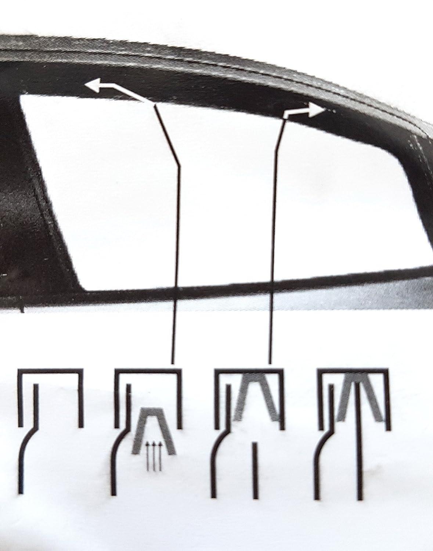 cinta adhesiva y clips tintados para cami/ón cabina Juego de 2 piezas cami/ón accesorios cami/ón Deflectores de viento espec/íficos para ventana de lluvia cortavientos