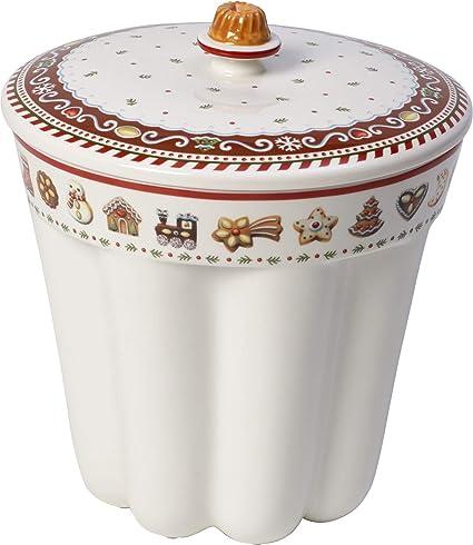 Villeroy & Boch Winter Bakery Delight Recipiente para pastas Gugelhupf, Porcelana Premium, Marrón/