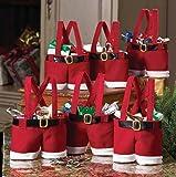 Zogin insieme di 6 decorazioni di Natale Babbo pantaloni borsa del regalo, sacchetto della caramella