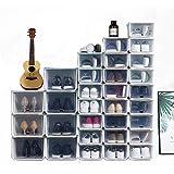Shoe Boxes Clear Plastic Stackable, Shoe Storage Boxes Clear Stackable, Organizer Stacking Storage Box,Shoe Boxes for…