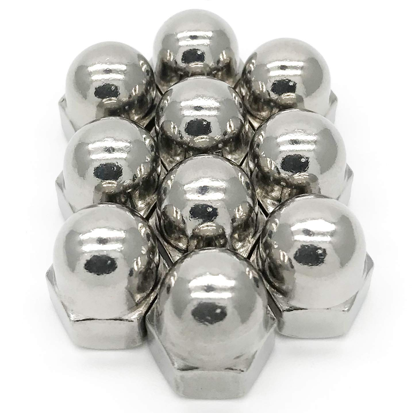 M12 Thread Dome Head DIN1587 Stainless Steel Cap Acorn Hex Nuts 5Pcs