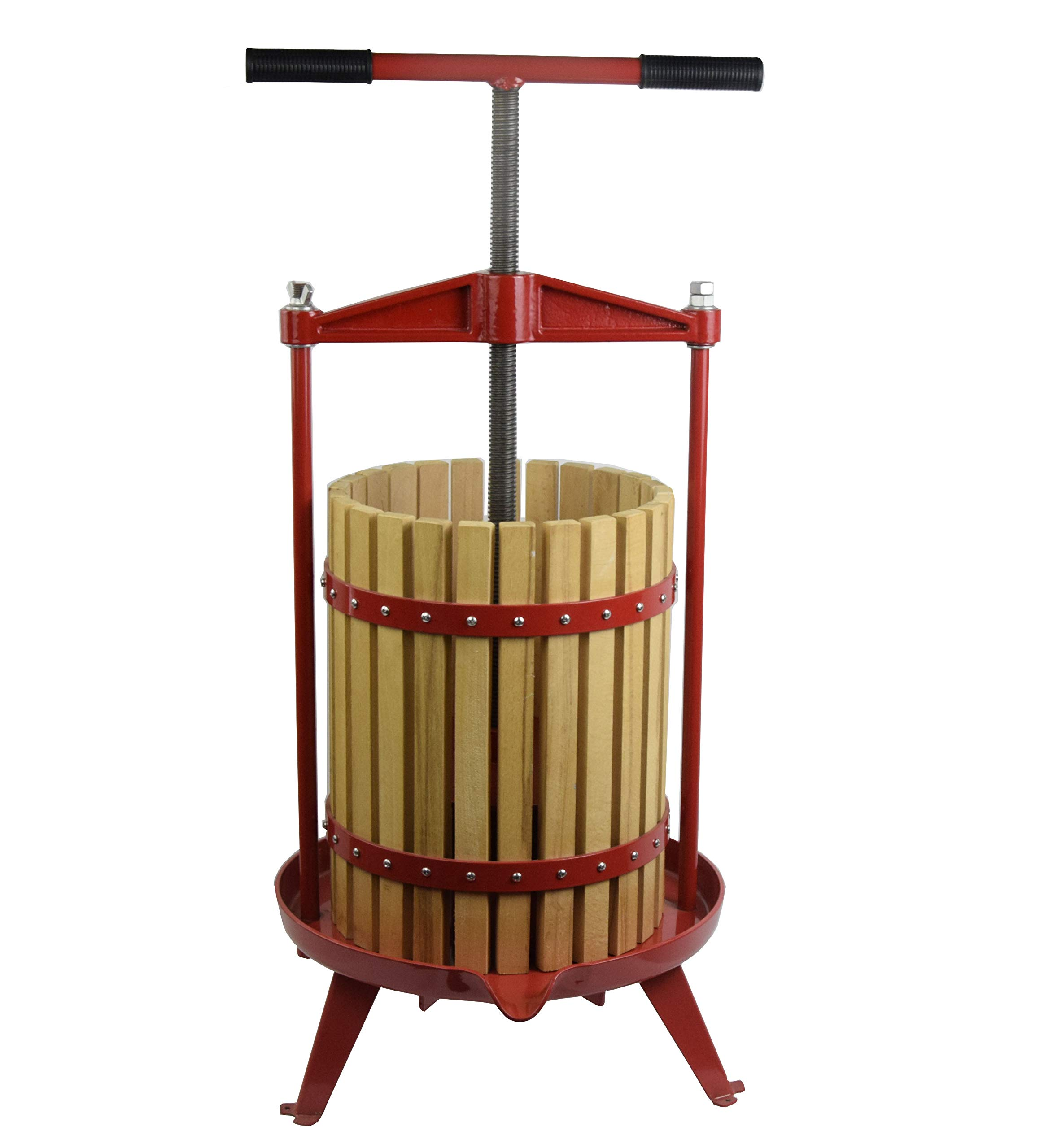 Solid Wood Apple Cider Press for Wine and Juice Making Pressing18L(4.75 gallons)