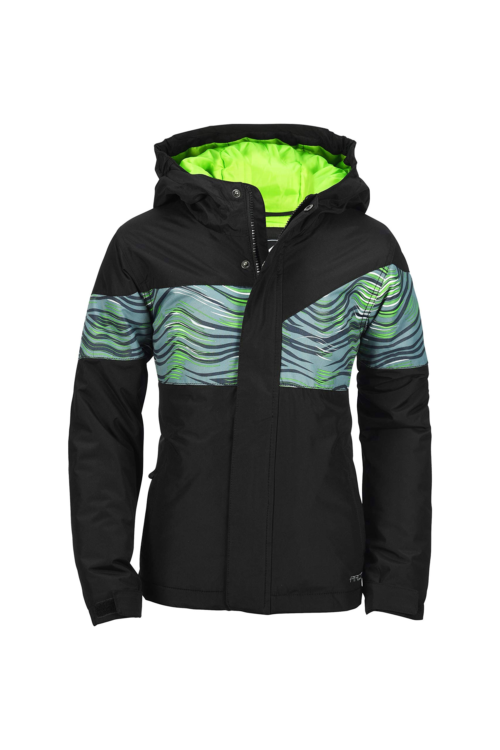 Arctix Boys Tomahawk Insulated Winter Jacket, Grey Wave, Large by Arctix