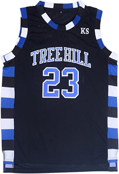 TUEIKGU Mens Ravens Basketball Jersey #23 Nathan Scott Sports Movie Jersey Black/White/Blue