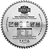 CMT K06007 ITK Contractor Ultra Finish Saw Blade, 7-1/4 x 60 Teeth, 10° ATB with 5/8-Inch<> bore